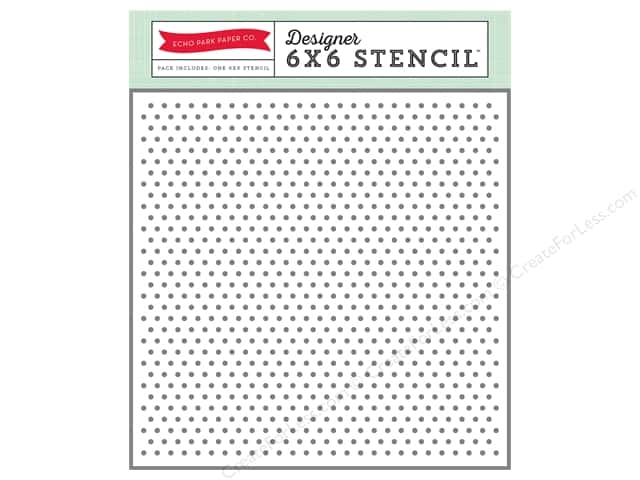Echo Park Designer Stencil 6 x 6 in. Hello Winter Collection Mini Dots