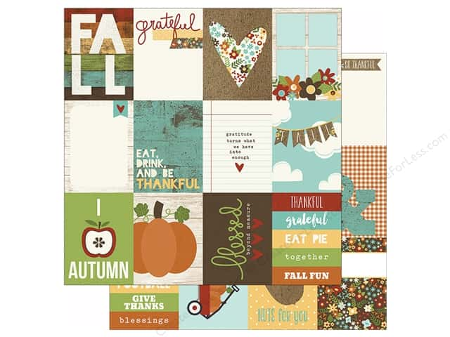"""Simple Stories Pumpkin Spice Collection Paper 12""""x 12"""" Journal Card Elements 3""""x 4"""" (25 sheets)"""