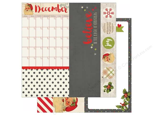 Simple Stories 12 x 12 in. Paper Claus & Co Elements (25 sheets)