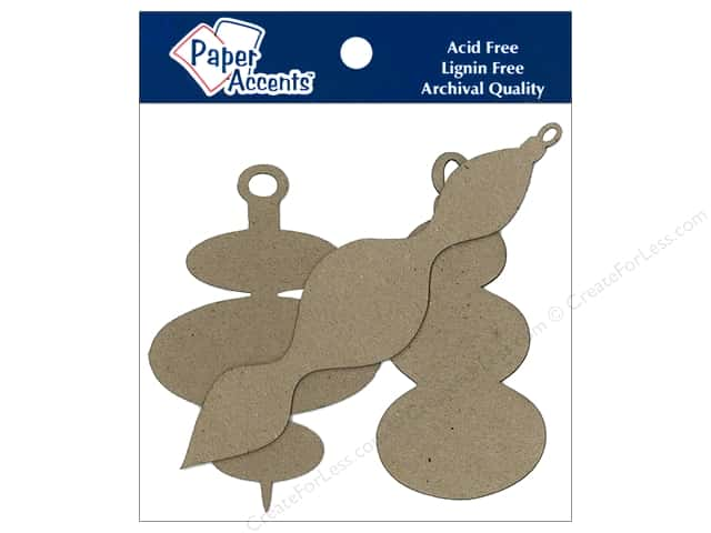 Paper Accents Chipboard Shape Ornament Modern Assorted 8 pc. Kraft