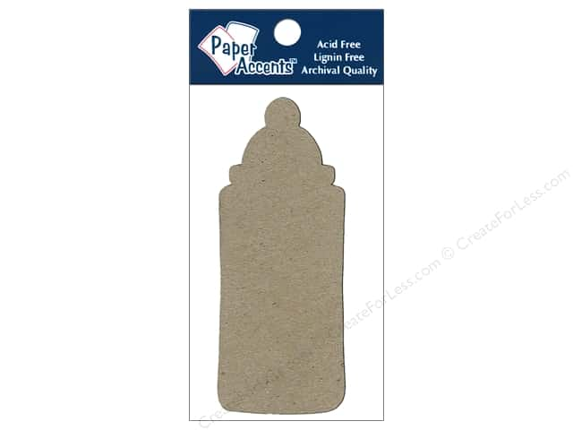 Paper Accents Chipboard Shape Baby Bottle 8 pc. Natural
