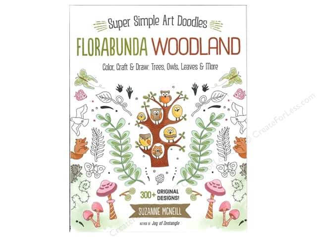 Design Originals Florabunda Woodland Super Simple Art Doodles Book
