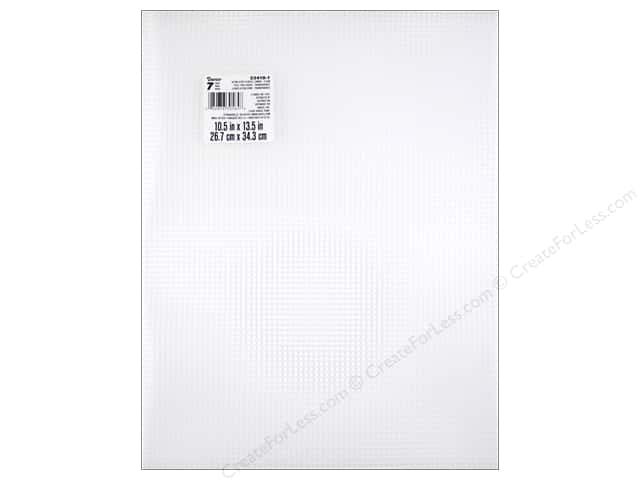 Darice Plastic Canvas #7 Mesh 10 1/2 x 13 1/2 in. Ultra Stiff Clear