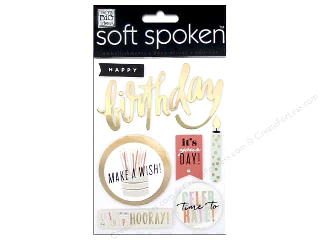 Me & My Big Ideas Soft Spoken Stickers Hooray Birthday
