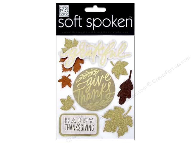 Me & My Big Ideas Soft Spoken Stickers Fall Grateful