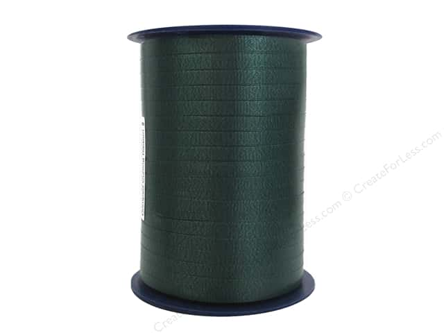 Morex Crimped Curling Ribbon 3/16 in. x 500 yd. Hunter Green