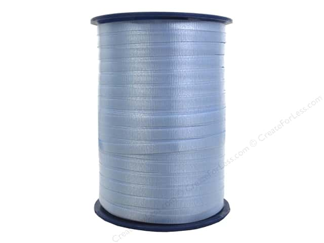 Morex Crimped Curling Ribbon 3/16 in. x 500 yd. Light Blue