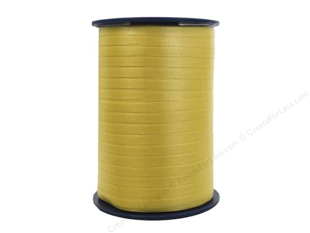 Morex Crimped Curling Ribbon 3/16 in. x 500 yd. Yellow