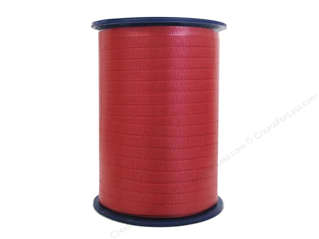 Morex Crimped Curling Ribbon 3/16 in. x 500 yd. Red