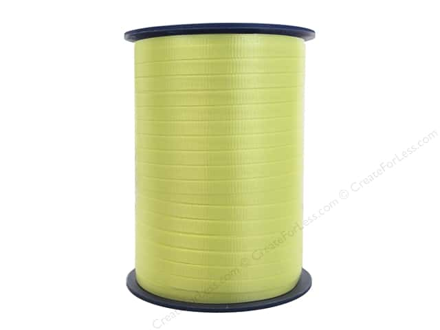 Morex Crimped Curling Ribbon 3/16 in. x 500 yd. Light Yellow