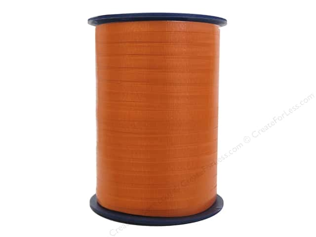 Morex Crimped Curling Ribbon 3/16 in. x 500 yd. Orange