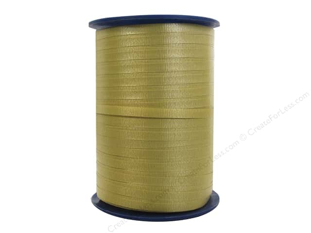 Morex Crimped Curling Ribbon 3/16 in. x 500 yd. Gold