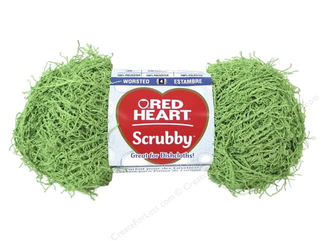 Red Heart Scrubby Yarn 92 yd. #0620 Lime