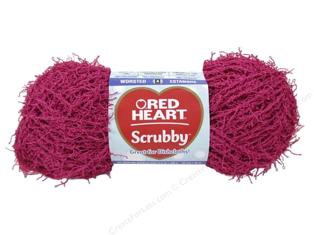 Red Heart Scrubby Yarn 92 yd. #0709 Bubblegum
