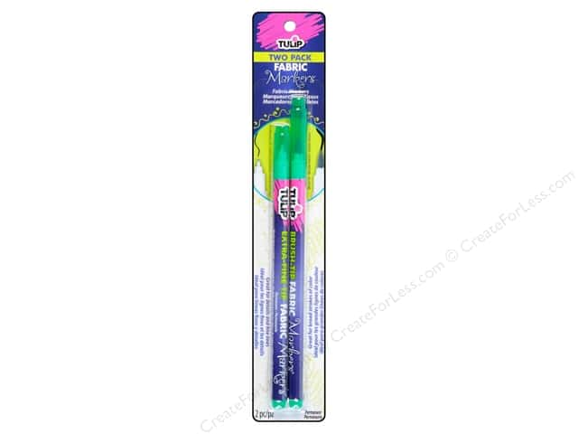 Tulip Fabric Marker Brush/Extra Fine Green 2pc