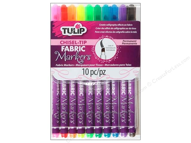 Tulip Fabric Marker Chisel Tip 10pc