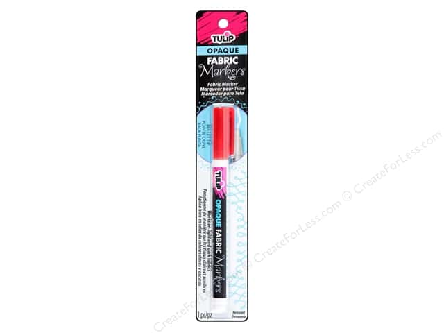 Tulip Fabric Marker Bullet Tip Opaque Red