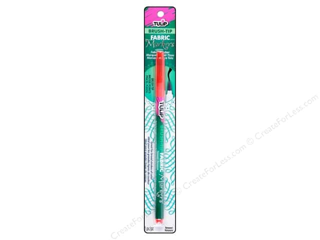 Tulip Fabric Marker Brush Tip Red