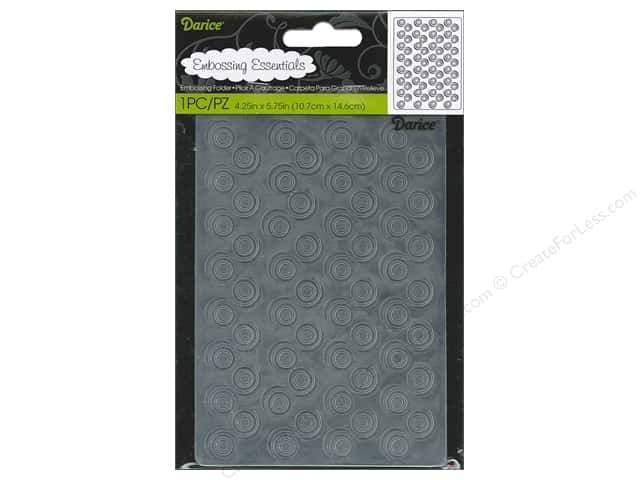 Darice Embossing Folder 4 1/4 x 5 3/4 in. Swirl Background
