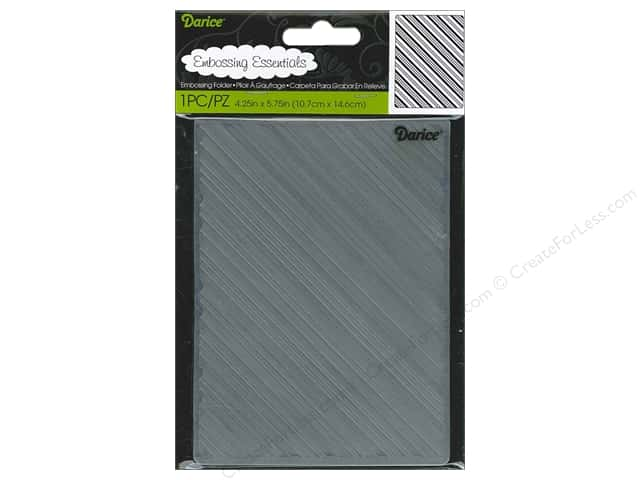 Darice Embossing Folder 4 1/4 x 5 3/4 in. Diagonal Stripe