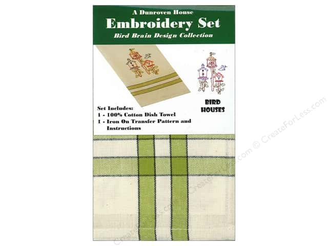 Dunroven House Towel Embroidery Set Bird Houses