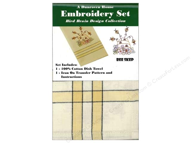 Dunroven House Towel Embroidery Set Bee Skep