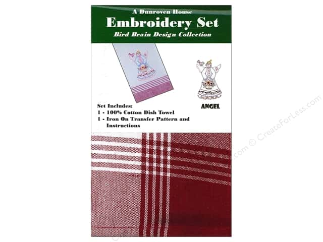 Dunroven House Towel Embroidery Set Angel