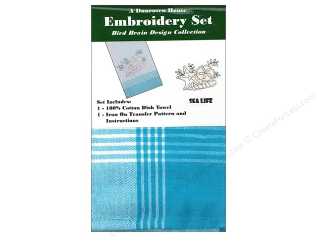 Dunroven House Towel Embroidery Set Sea Life