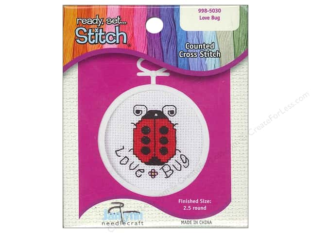 Janlynn Kid Stitch Cross Stitch Kit 2 1/2 in. Love Bug