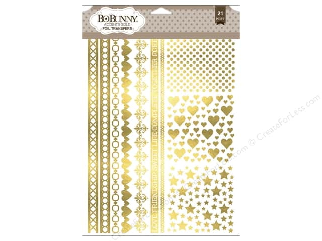 Bo Bunny Rub-Ons Foil Accents Gold