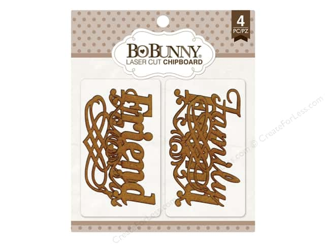 Bo Bunny Laser Cut Chipboard Family