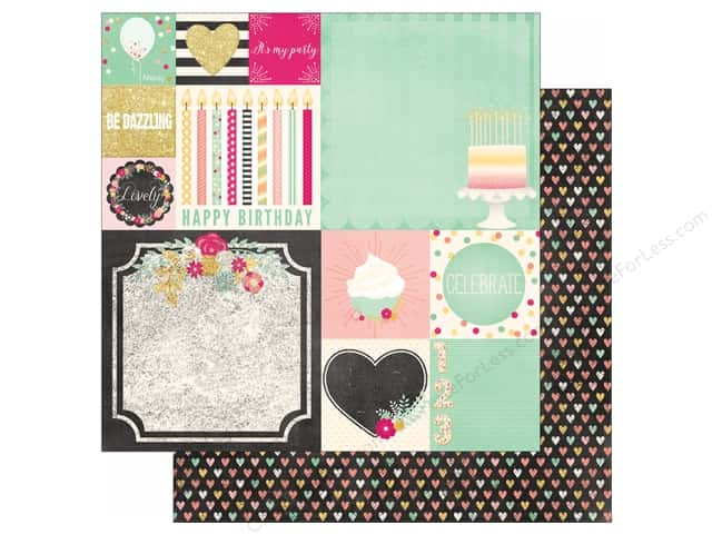 Bo Bunny 12 x 12 in. Paper You're Invited Collection Bash (25 sheets)
