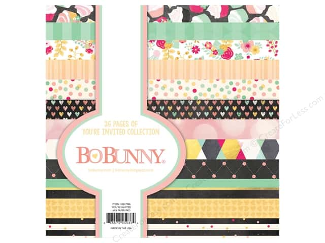 Bo Bunny 6 x 6 in. Paper Pad You're Invited