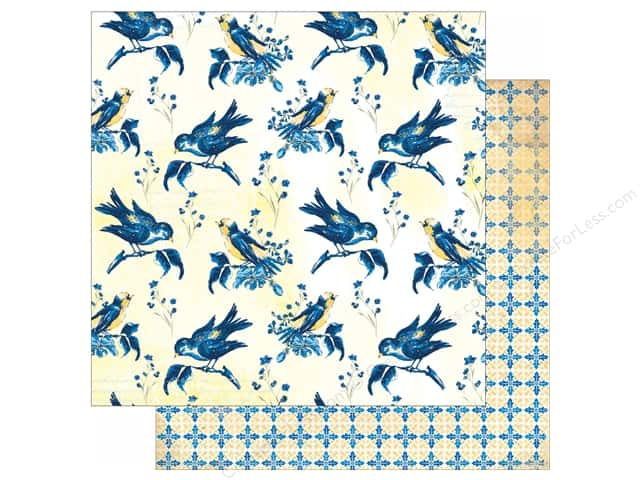 Bo Bunny 12 x 12 in. Paper Genevieve Collection Birds (25 sheets)