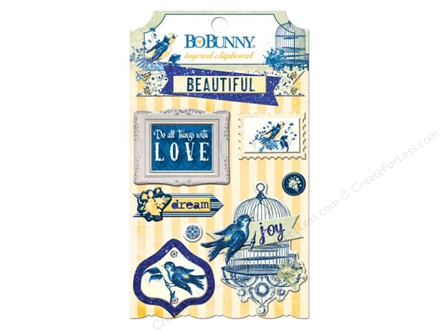 Bo Bunny Layered Chipboard Stickers Genevieve