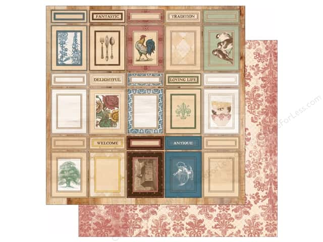 Bo Bunny 12 x 12 in. Paper Provence Collection Cupboards (25 sheets)