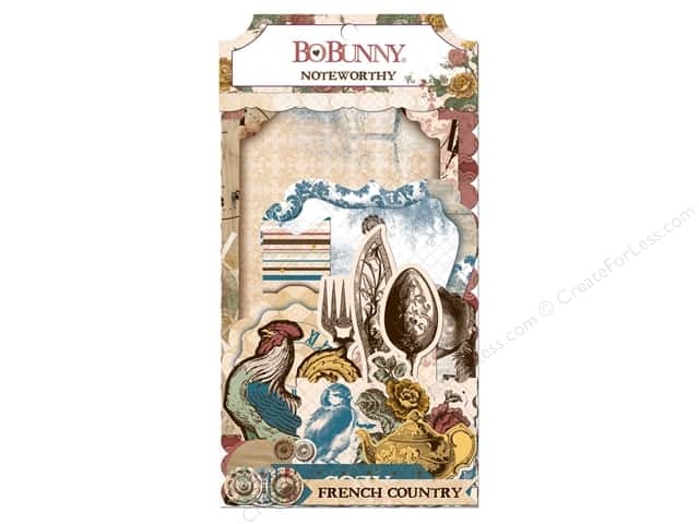 Bo Bunny Noteworthy Journaling Cards Provence