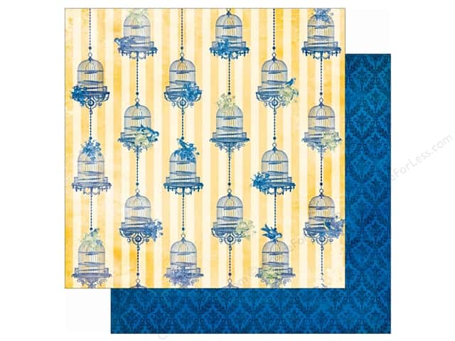 Bo Bunny 12 x 12 in. Paper Genevieve Collection Canary (25 sheets)