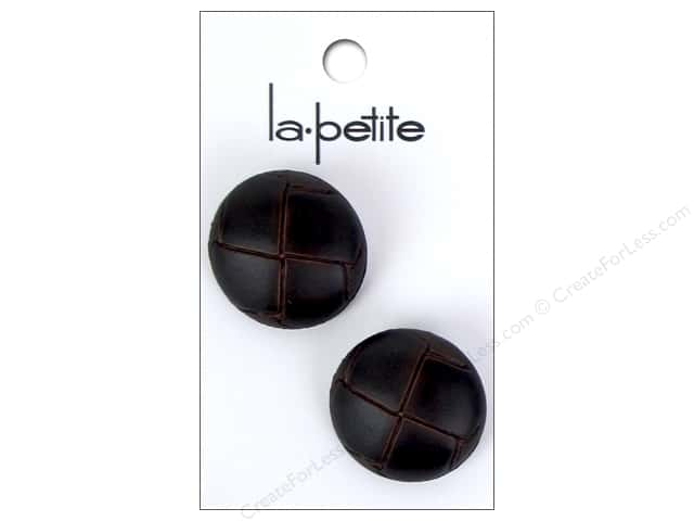 LaPetite Shank Buttons 1 in. Leather Brown #294 2 pc.