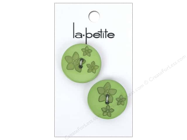 LaPetite 2 Hole Buttons 7/8 in. Green #2120 2 pc.