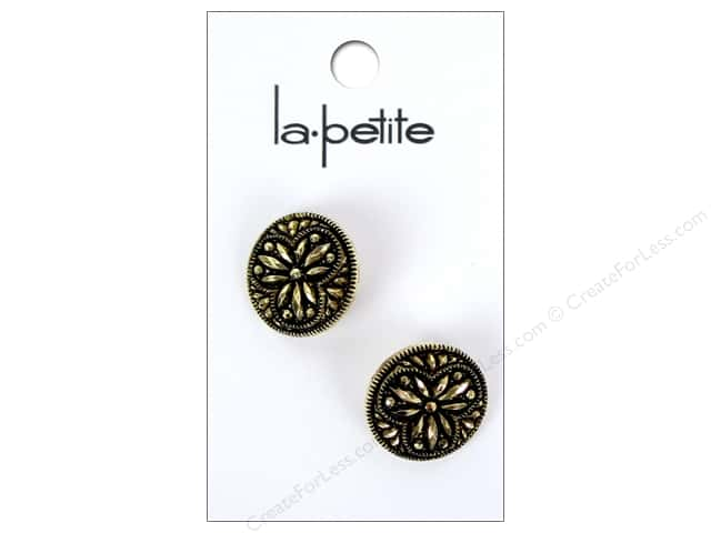 LaPetite Shank Buttons 3/4 in. Antique Gold #2134 2 pc.