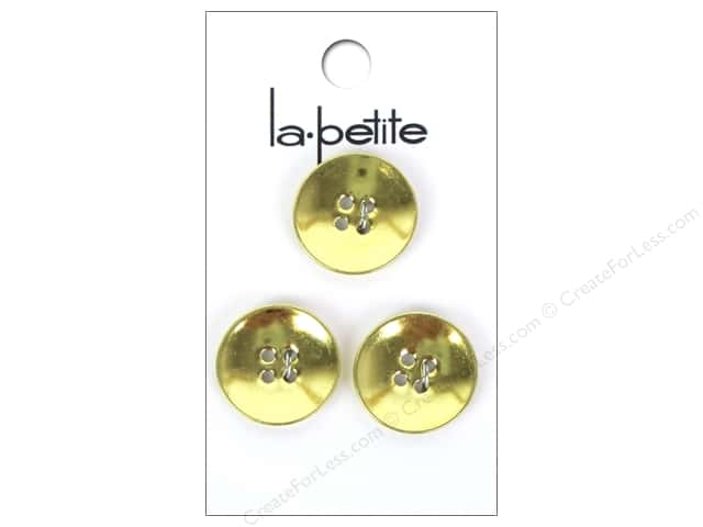 LaPetite 4 Hole Buttons 3/4 in. Satin Gold #2136 3 pc.