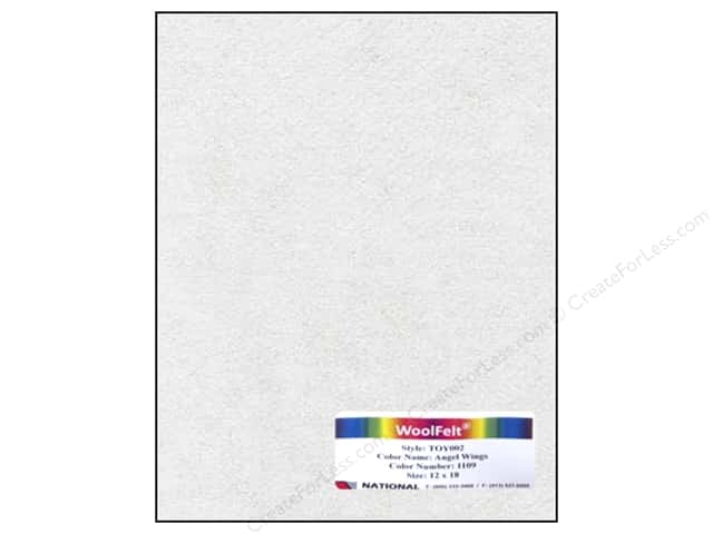 National Nonwovens WoolFelt 12 x 18 in. 35% Angel Wings (10 sheets)