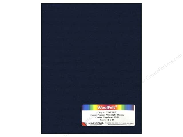National Nonwovens 35% Wool Felt 12 x 18 in. Midnight Dance