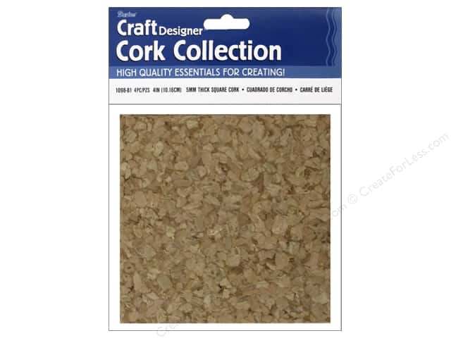 Darice Cork Wall Tile 4 x 4 in. 4 pc.