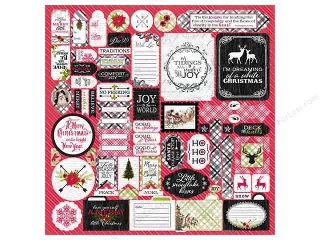 Authentique Stickers Tidings Details (12 sheets)