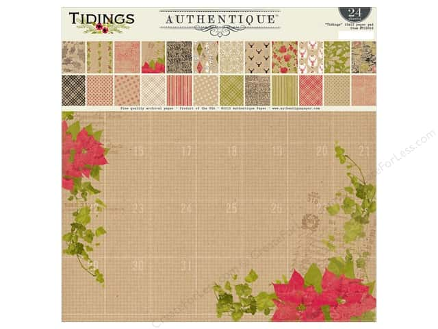 Authentique 12 x 12 in. Paper Pad Tidings Collection