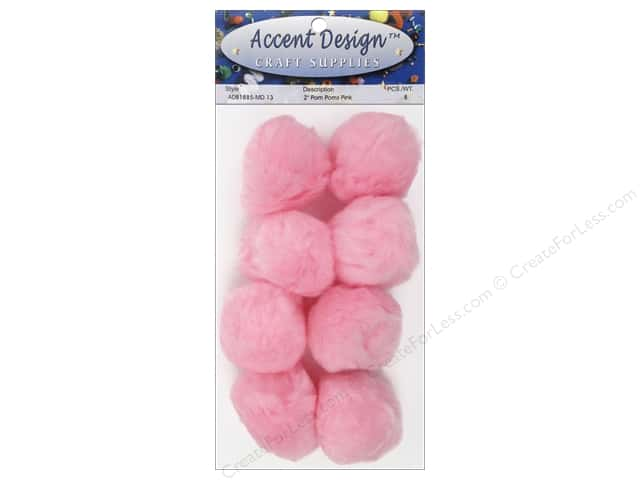 PA Essentials Pom Poms 2 in. Pink 8 pc.