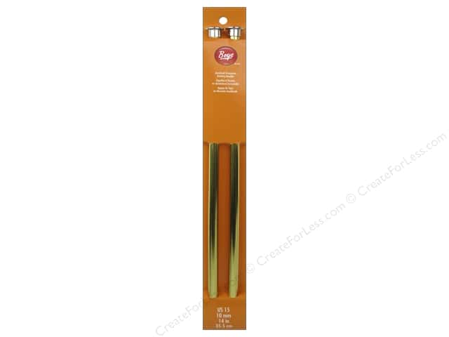 Boye Single Point Knitting Needles Aluminum 14 in. Size 15 (10 mm)