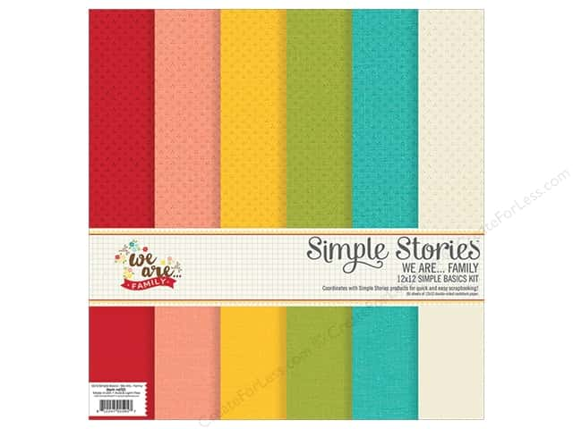 Simple Stories We Are Family Collection Simple Basics Kit